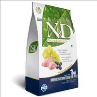Ração Farmina N & D Grain Free Cordeiro para Cães Adultos de Raças Médias - 2,5 Kg