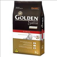 Ração Golden Gatos Adultos Carne - 3kg