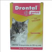 Vermífugo Drontal Gatos - 4 Comprimidos