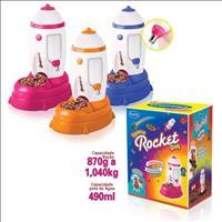 Bebedouro e Comedouro Puppy Space Rocket - Azul