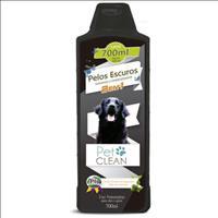 Shampoo e Condicionador Pet Clean 2 em 1 Pelos Escuros - 700ml