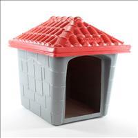 Casa Plástica Clicknew Americana - Cinza com Vermelho Casa Plástica Clicknew Americana Cinza com Ver