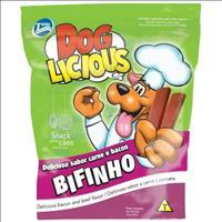 Petisco Total Dog Licious Bifinho de Carne e Bacon - 65gr