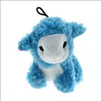 Brinquedo Jambo Mordedor Pelúcia Ovelha Baa - Azul