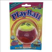 Brinquedo American Pets Bola de Tênis com Clip Playball - Vermelho