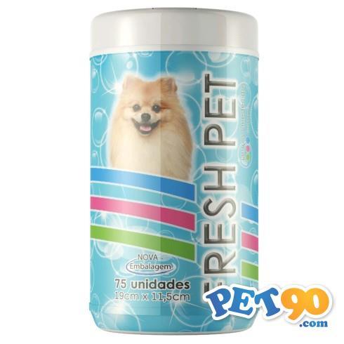 Lenços Umedecidos Petmais Fresh Pet Azul - 75 Unidades