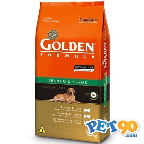 Ração Premier Golden Formula Cães Adultos Frango e Arroz - 15kg