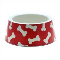 Tigela Plástica Ossos Vermelha - Jambo Nº 03