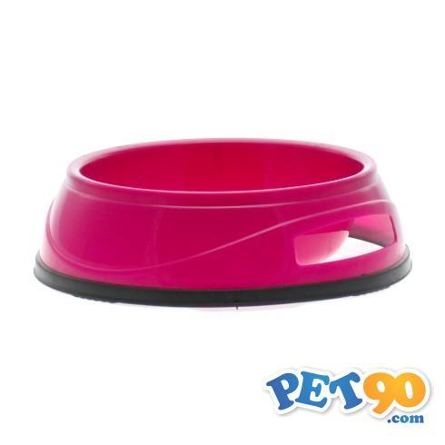 Comedouro Plástico Antiderrapante - Rosa Comedouro Plástico Antiderrapante Rosa - Nº02