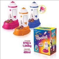 Bebedouro e Comedouro Puppy Space Rocket - Rosa
