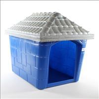 Casa Plástica Clicknew Americana - Azul com Mármore Casa Plástica Clicknew Americana Azul com Mármor