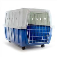 Caixa de Transporte Clicknew com Rodas - Azul com Mármore Caixa de Transporte Clicknew com Rodas Azu