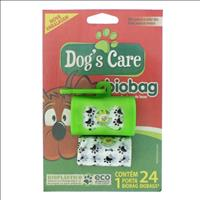 Porta Saquinho Dogs Care Bio Bag Verde + Refil