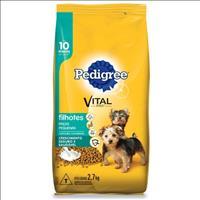 Ração Pedigree para Cães Filhotes de Raças Pequenas até 10 Meses de Idade - 2,7kg