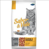 Ração Sabor e Vida Gatos Carne e Frango - 1kg