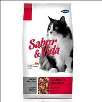 Ração Sabor e Vida Gatos Carne e Fígado - 1kg