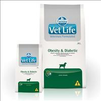 Ração Farmina Vet Life Obesity & Diabetic para Cães Adultos Obesos ou Diabéticos - 2kg
