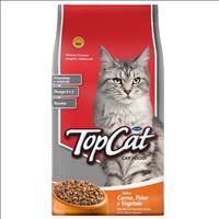 Ração Top Cat Carne, Peixe e Vegetais - 2Kg