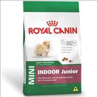 Ração Royal Canin Mini Indoor Junior para Cães Filhotes de Raças Pequenas Ambientes Internos Ração R