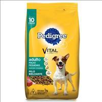 Ração Pedigree Pelo Brilhante para Cães Adultos de Raças Pequenas a partir de 10 Meses de Idade Raçã