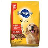 Ração Pedigree Carne, Frango e Cereais para Cães Adultos a partir de 12 Meses de Idade - 15kg