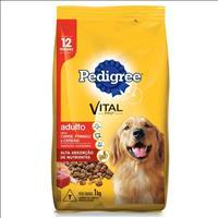 Ração Pedigree Carne, Frango e Cereais para Cães Adultos a partir de 12 Meses de Idade - 1kg