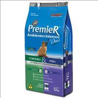 Ração Premier Pet DUO Ambientes Internos Cães Adultos Cordeiro e Peru - 12kg