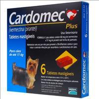 Cardomec Plus Azul Cães ate 11 quilos - 6 tabletes