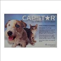 Anti Pulgas Novartis Capstar de 11 mg com 6 Comprimidos para Cães e Gatos - Até 11 Kg