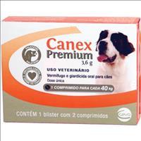 Vermifugo Ceva Canex Premium 3,6 g para Cães até 40 Kg - 2 comprimidos