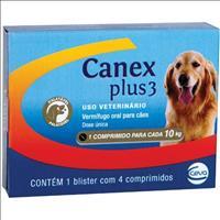 Vermifugo Ceva Canex Plus 3 para Cães até 10 kg - 4 Comprimidos