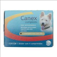 Vermifugo Ceva Canex Composto para Cães até 10 Kg - 4 Comprimidos