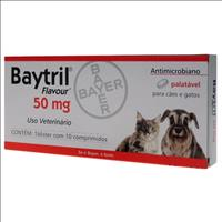 Baytril Flavour 50mg - 10 comprimidos