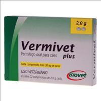 Vermífugo Biovet Vermivet Plus 2gr para Cães - 2 comprimidos