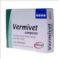 Vermífugo Biovet Vermivet Composto 600mg - 4 comprimidos