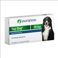 Vermifugo Ouro Fino Top Dog para Cães de até 30kg - 2 Comprimidos