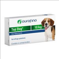 Vermifugo Ouro Fino Top Dog para Cães de até 10kg - 4 Comprimidos