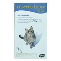 Anti Pulgas e Carrapatos Pfizer Revolution 6% para Gatos de 2,5 a 7,5 kg - 45 mg Anti Pulgas e Carra