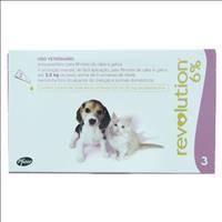 Anti Pulgas e Carrapatos Pfizer Revolution 6% para Cães e Gatos até 2,5 kg - 15 mg Anti Pulgas e Car