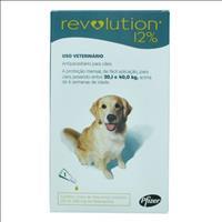 Anti Pulgas e Carrapatos Pfizer Revolution 12% para Cães de 20 a 40 kg - 240 mg Anti Pulgas e Carrap