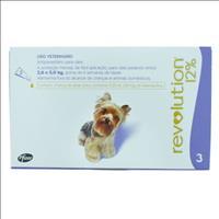 Anti Pulgas e Carrapatos Pfizer Revolution 12% para Cães de 2,5 a 5 kg - 30 mg Anti Pulgas e Carrapa