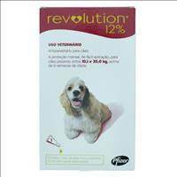 Anti Pulgas e Carrapatos Pfizer Revolution 12% para Cães de 10 a 20 kg - 120 mg Anti Pulgas e Carrap