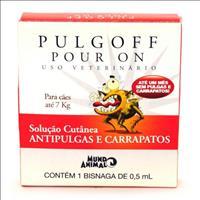 Anti Pulgas e Carrapatos Mundo Animal Pulgoff Pour On para Cães Anti Pulgas e Carrapatos Mundo Anima