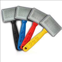 Rasqueadeira Cerdas Aço Cabo Plástico com Patinhas Cores Variadas - Tamanho 01