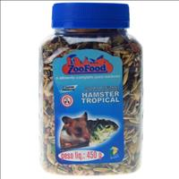 Ração Zoofood Hamster Tropical  - 450 g