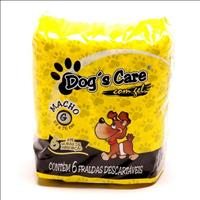Fralda Dogs Care para Machos - Pacote de 6 Unidades Fralda Dogs Care para Machos - Tam G