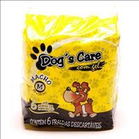Fralda Dogs Care para Machos - Pacote de 6 Unidades Fralda Dogs Care para Machos - Tam M