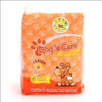Fralda Dogs Care para Fêmeas - Pacote de 6 Unidades Fralda Dogs Care para Fêmeas - Tam G