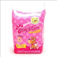 Fralda Dogs Care para Fêmeas - Pacote de 6 Unidades Fralda Dogs Care para Fêmeas - Tam P