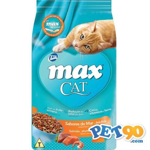 Ração Total Max Cat Sabores do Mar para Gatos Adultos - 3kg